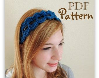 PDF CROCHET PATTERN - Make It Yourself:  Crochet Trim for Headband Pattern, Summer Trends, Chic,  Boho, Digital Download, Lots of Photos