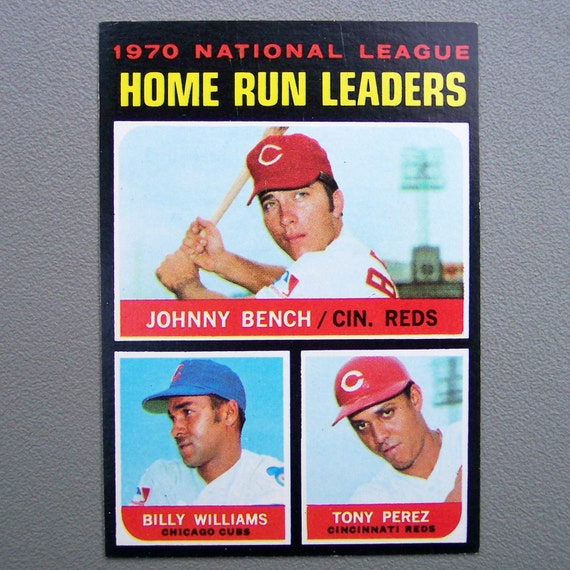 Vintage 1971 Topps Johnny Bench Home Run Leaders Baseball Card