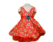 Smurfette Cotton Pageant Birthday Crowning Dress - PatrioticPrincess2