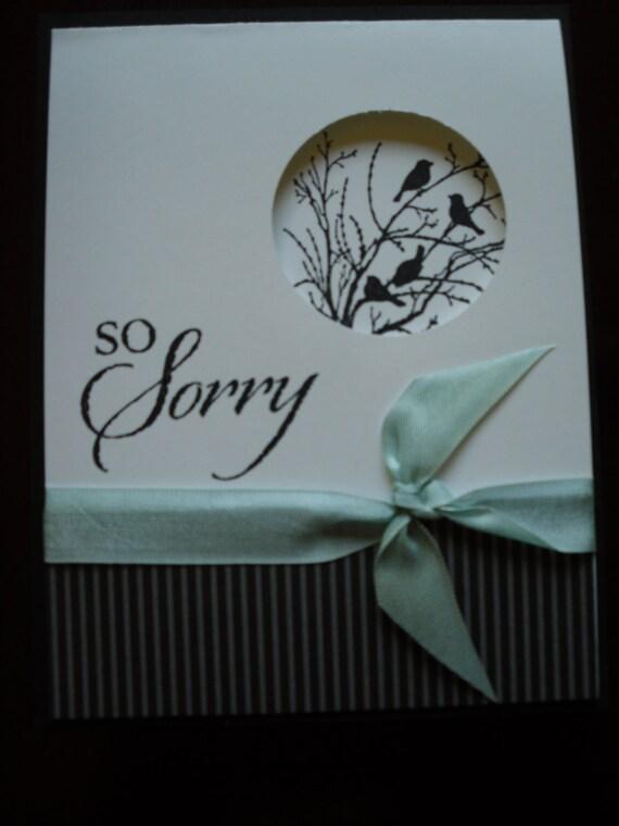 handmade stampin up sympathy card