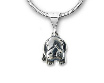 Sterling Silver Hippo Pendant