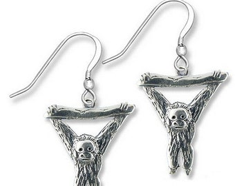 Sterling Silver Orangutan Earrings