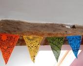 Mandala rainbow prayer flags / bunting