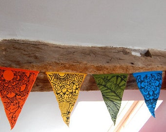 Mandala rainbow prayer flags / bunting