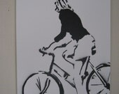 "Bicycle 22""x28"" Graffiti Style Pop Art Painting"