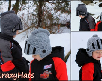 Crochet Sir Knight Helmet .