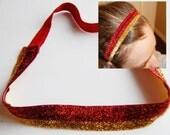 2 colored Glitter Headband- ISU and Iowa Colors