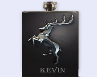 Game Of The Thrones Baratheon  Flask,  Personalized Custom Flask,