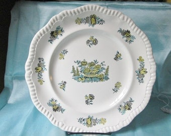"""1930s Copeland Spode Transfer Dinner Plate.10 1/2""""(26.4cm) Diameter,Wedding Gift, Mothers Day Gift, Fathers Day Gift, Christmas Gift"""