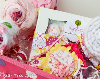 DARLING Baby Girl Gift Basket, Baby Shower Gift