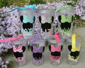 Disney Inspired Minnie Mouse or Mickey Mouse Tumblers / Cups 16oz