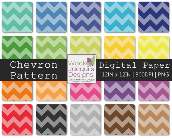 22 Chevron Digital Paper 12x12 PNG 300DPI -  For Commercial and Personal Use