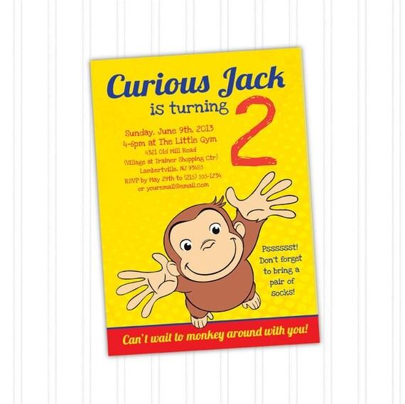 Curious George Birthday Invitation Printable by ...