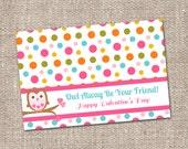 Owl Valentine's Day Kids Classroom Bag Topper - Instant Download - Printable DIY - Boy Girl