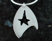 Star Trek Commander fine silver pendant