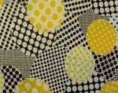 Patchwork Circles in Yellow from  Yuwa of Japan