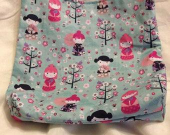 Little Geishas kawaii Doll Hobo REVERSIBLE CrossBody Bag / purse