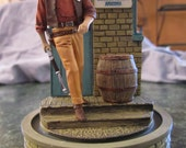 Collectable Franklin Mint Hand Painted Sculpture John Wayne - Graham Cnty Sheriff