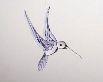 Large Hand Blown Glass Hummingbird