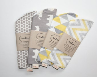Set of 2 Jumbo Contoured Burp Cloths - Organic Cotton