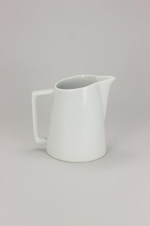 small white pitcher // SIMPLE vintage cream // milk POURER white glass coffee decor