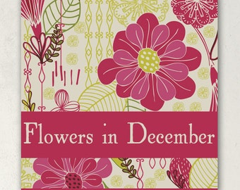 ETSY BANNER SET Banners Flowers in December