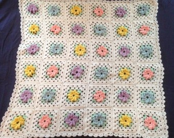 Free Pinwheel Crochet Baby Blanket Pattern : Pinwheel afghan Etsy