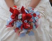 Cath Kidstone Inspired Ribbon Bouquet  'Throw Bowquet'