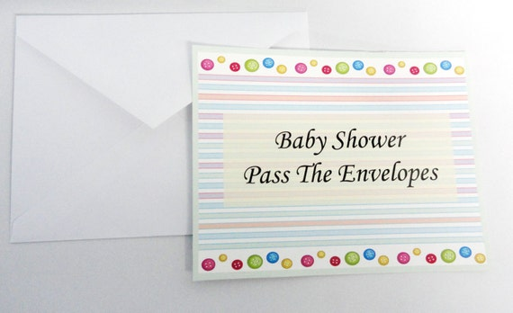 printable pass the envelopes baby shower game boy girl neutral u print