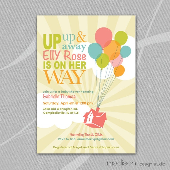 up inspired disney baby shower invitation printable