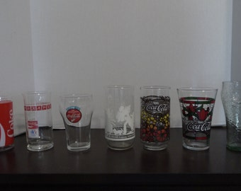 Collectible Coca-Cola Glasses, Various Styles