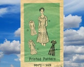 Vintage Mail Order Sewing Pattern - Womens Day Dress Half Size