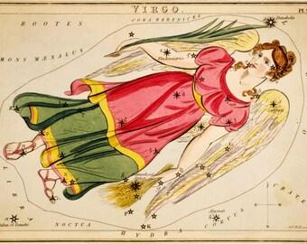 Moon globe, Galaxy, Constellation map, Constellation of Virgo, 154