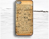 iPhone 6S Case, iPhone 6S Plus Case Old Paper Print, TOUGH iPhone 5s Case, iPhone 6 Case, Doodle iPhone Case, Illustration iPhone Cover N12