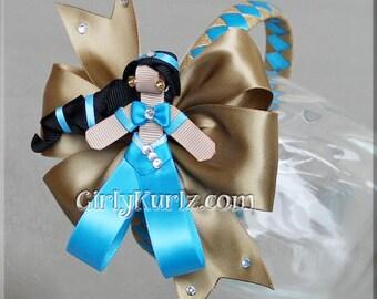 Princess Jasmine Headband, Princess Jasmine Ribbon Sculpture Hair Clip, Princess Hair Bow, Jasmine Hair Clip, Princess Headband, Princess