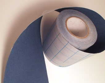 5' Denim Blue Adhesive Fabric Book Cloth Tape DIY Journal Bookbinding Supplies Book Repair Tape