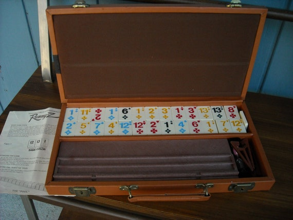 Rummy Z Rummikub Game in Leatherette Travel Case 1977 Pacific Game Co Rules