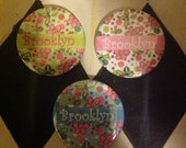Personalized Pinback Button Listing Reserved for Olivia Bloom