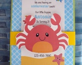 Under the Sea  invitation | Nautical party invitations | Under the Sea birthday Party | Sea creature invitations | Under the Sea Birthday