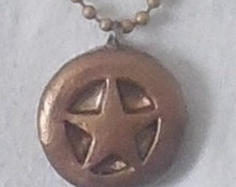 bronze steampunk star pendant