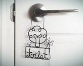Toilet / Bathroom door hanger wire craft