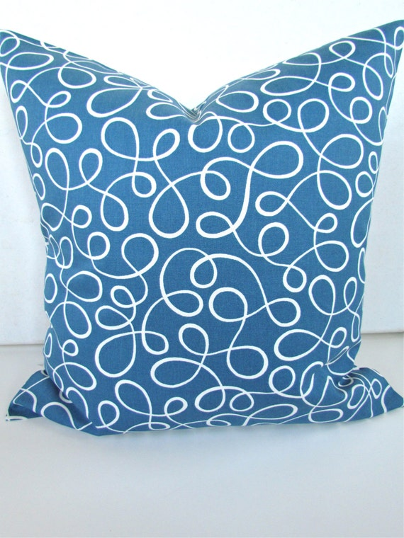 Items similar to SALE PILLOW COVER 16x16 Decorative Throw Pillows Turquoise Blue 18x18 Royal ...
