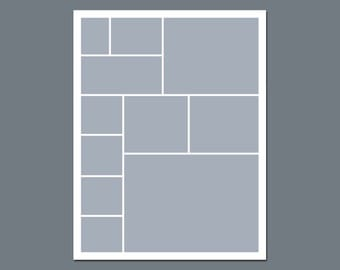 INSTANT DOWNLOAD - Digital Photo Collage Template - 8.5 x 11 - No.10