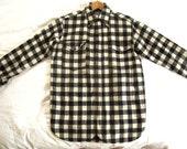 SALE-----Vintage Pendleton Buffalo Check Button Down Shirt