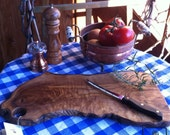 Olive wood wooden cutting board tray chopping board natural edge finished