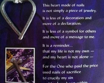 Heart of Nails pin