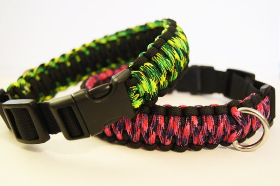 Items similar to Adjustable Paracord Dog Collar on Etsy Y Dog Names