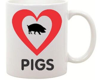 I love Pigs Coffee Mug 0030