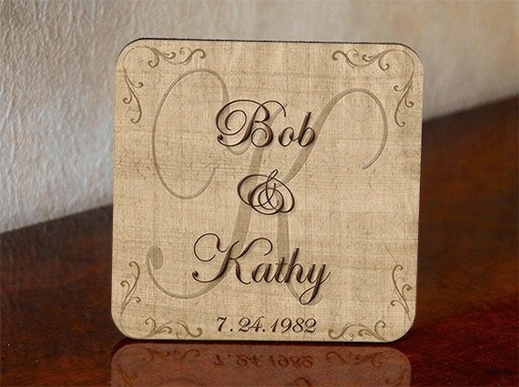 Monogrammed Wedding Gifts Couple: Personalized Wedding Gift Coasters Wedding Couple First