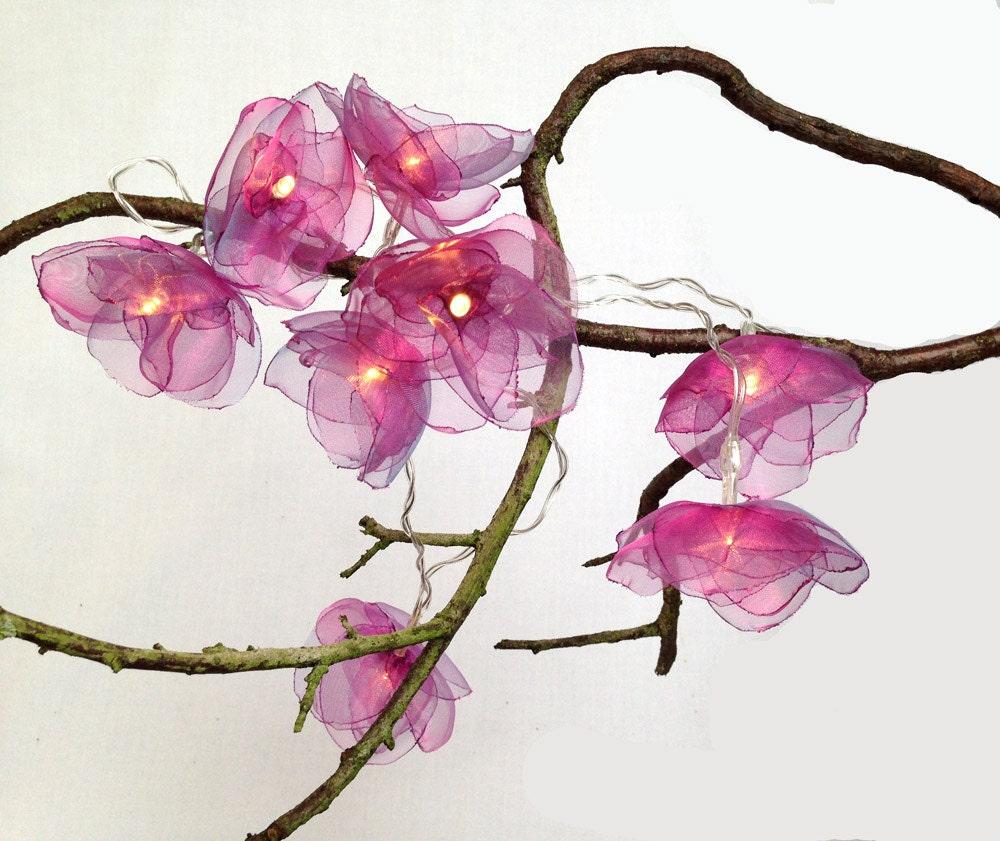 flower fairy lights fuchsia pink. Black Bedroom Furniture Sets. Home Design Ideas
